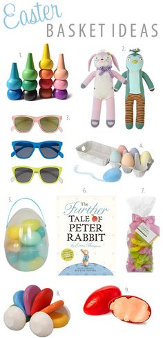 Sweet Little Peanut | Fun + unique Easter basket goodies for babies and kids! #easter #easterbasket #kidseasterbasketideas