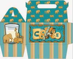 Caja Lunch de Animales para Imprimir Gratis.