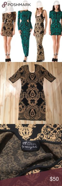 Torn by Ronny Kobo brocade dress Amazing torn by Ronny Kobo brocade mini dress. Bodycon fit, slip on style. Like new! Size medium. Torn by Ronny Kobo Dresses Mini