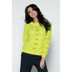 Pulover verde lamaie cu decupaje Lace, Tops, Women, Fashion, Green, Chic, Tricot, Moda, Fashion Styles