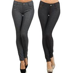 20fef1cf1e3 Yelete Womens Basic Five Pocket Stretch Jegging Tights Pa.
