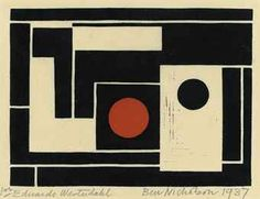 View Abstract with red circle (Lewison - By Ben Nicholson; linocut with hand-colouring in gouache; 134 x 182 mm. 187 x 233 mm. Access more artwork lots and estimated & realized auction prices on MutualArt. Modern Art, Contemporary Art, Motif Vintage, Geometric Art, Geometric Painting, Light In The Dark, Painting & Drawing, Collages, Design Art