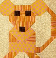 Sew Block Quilt = free tutorial = Mouse quilt block by The Objects of Design Cat Quilt Patterns, Paper Piecing Patterns, Pattern Blocks, Quilting Tutorials, Quilting Projects, Quilting Designs, Farm Quilt, Animal Quilts, Mini Quilts