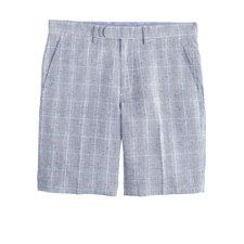 12/21 Bowery slim short in glen plaid cotton, $17.99 76% off!