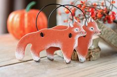 Fox Salt Dough hanging ornaments, Home decorations, Kitchen decorations, Childrens room,Autumn decorations, Christmas tree decor  etc... by BRsaltycandy on Etsy