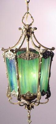 Berengia, Blue Green Glass Lantern