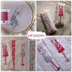 lavender girl embroidery pattern von LiliPopo auf Etsy
