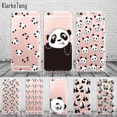 US $2.10 -- AliExpress.com Product - Cute Cartoon Animal Panda Case For Iphone SE 5 5S 6 6S 7 Plus Transparent Silicone Phone Back Cover Coque