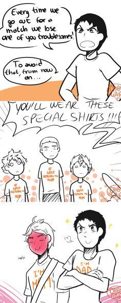 Crow family shirts #haikyuu #karasuno