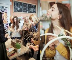 Gathering  Easter blooming basket workshop Lviv, Ukraine Svit kavy