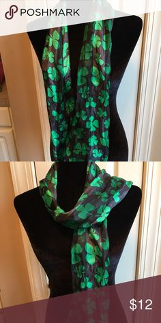 St Patrick Day scarf Excellent condition. 10 day sale and will be donated if not sold by 11 /20. Sold as is and price is firm. Nonsmoking home Accessories Scarves & Wraps