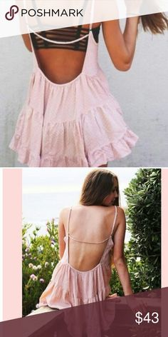 Brandy Melville  Jada Dress Blush polka dot , great condition super cute dress. I don't see the size tag so I think is 1 fit all Brandy Melville Dresses Mini