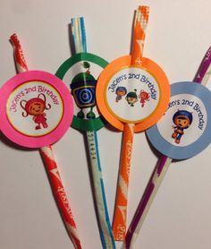 Team Umizoomi  party favors pixie stix by PartyXtras on Etsy, $10.00