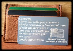 Great Gift For Him  Her .personalized wallet card wallet card gift personalized message card in Hebrew English  metal wallet card SIMAG