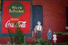 repainted coca-cola sign in newton