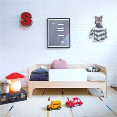 A cool new toddler bed from Oeuf NYC (via Ebabee Likes)