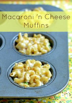 These macaroni and cheese muffins are the perfect portable comfort food! Try them for dinner on a busy weeknight. Recipe from Real Food Real Deals.