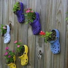 DIY Shoe Planters