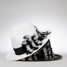 3d01a9946ca Helene Berman feather trilby Summer Hats