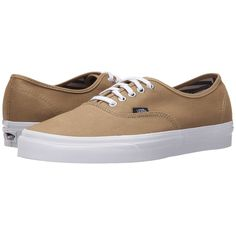 Vans Authentic Skate Shoes (72 CAD) ❤ liked on Polyvore featuring shoes, sneakers, light weight shoes, genuine leather shoes, vans shoes, leather trainers and leather sneakers