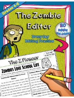 Editing Practice - Zombie Newsletters, Common Core Aligned from The Gilded Classroom on TeachersNotebook.com -  (32 pages)  - The Zombie Editor was designed to help students practice a variety of grammar skills using high-interest mini articles in a fun and easy to use format. Great for grades 4-6 and common-core aligned!.