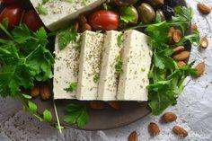 Vegan φέτα αμυγδάλου βήμα βήμα – Vegan in Athens Feta, Almond, Dairy, Cheese, Almond Joy, Almonds