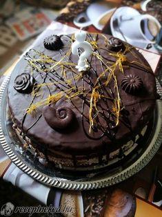 Narancsos-csokoládés torta Cake, Desserts, Food, Caramel, Tailgate Desserts, Deserts, Food Cakes, Eten, Cakes