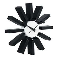 Zuo-Block Black and White Retro Wall Clock Black And White Living Room, Black And White Style, White Washed Oak, Tabletop Clocks, Modern Clock, Contemporary Wall Decor, Buy Furniture Online, Dcor Design, Modern Area Rugs