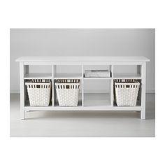 HEMNES Desserte, teinté blanc - 157x40 cm - IKEA