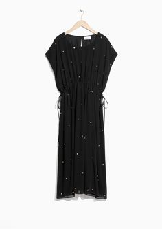 & Other Stories image 1 of Chiffon Kaftan Dress in Black