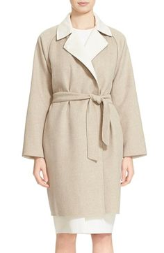 Max Mara 'Gel' Bicolor Reversible Wool & Angora Coat