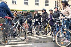 Flüchtlinge lernen Fahrradfahren in Göttingen