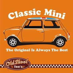 Classic Mini 1000 Cooper 60 s retro car t shirt Tee Monte Carlo rally shirt