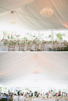tented reception. Love draping. Chandeliers. Gold chivari chairs & Wedding Inspiration: Sarah and Eriku0027s Rustic Wedding in Kentucky ...