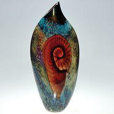 """Richard Satava """"Nautilus"""" vase, 18"""""""