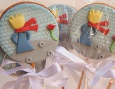 Cupcakes pequeno p Prince Birthday Party, Birthday Parties, Birthday Ideas, Cookie Pops, The Little Prince, Babyshower, Christening Gifts, Baby Shower Cakes, Diy Party