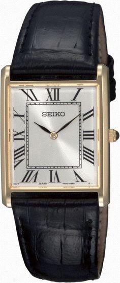 Seiko Horloge type SFP608P1. Kaliber 7N00. Een klassiek uitgevoerd model met een goudkleurige kast en zwarte leren band. Het horloge is (spat)waterdicht. Een elegant horloge dat slechts 22 gram weegt en dat harde Hardlexglas heeft. Dit model is 3 Atm (spat)waterdicht en heeft een mooie Cabochon knop. https://www.timefortrends.nl/horloges/seiko.html