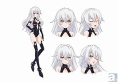 Black heart from Hyperdimension Neptunia Sci Fi Anime, Anime Art, Character Sheet, Character Concept, Female Characters, Anime Characters, Cyberpunk Anime, Anime Stories, Anime Dress