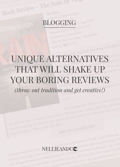 Unique Alternatives That Will Shake Up Boring Reviews - Do you dread writing reviews? Check out these awesome alternatives that will inspire you to share your love of all things, and bring in the views too!