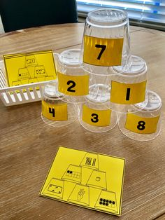 Representations - Mathe -Cup Representations - Mathe - Subitizing Cards And Cups Math Genius, Math Tubs, Kindergarten Centers, Number Sense Kindergarten, Kindergarten Smorgasboard, Early Math, Guided Math, Math Math, Primary Maths