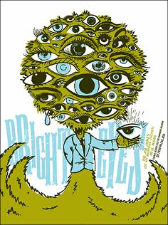 Gig posters, flyers and handbills from around the world! Invisible Creature, Auto Glass, Bright Eyes, Cursed Child Book, Creature Design, Album Covers, Creatures, Design Inspiration, Illustration