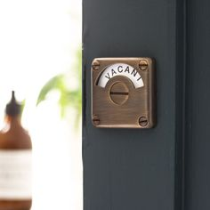 Distressed Antique Brass Vacant Engaged Lock