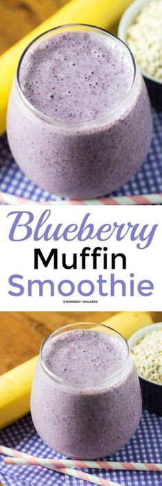 Blueberry Muffin Smoothie from Noshing With The Nolands is a scrumptious and refreshing smoothie that is packed with superfoods!