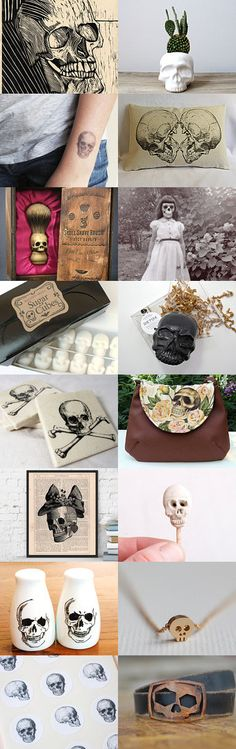 ♦Skulls♦ by Emilie on Etsy--Pinned with TreasuryPin.com