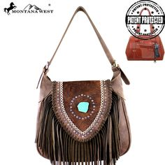 MW370G-916 Montana West Fringe Collection Concealed Handgun Hobo -Coffee #western #momtanawest #west #handbaloverusa #rustic #rusty #country #purse #countrygirl #cattle #american #cowgirl #texas #texan #USA #cowgirl #cattle #countryside #countrylife #gun #guncarry #aztec