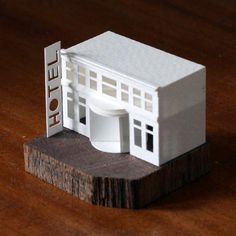 Paperholm, Charles Young's miniature paper city http://designwrld.com/paperholm-charles-youngs-miniature-paper-city/