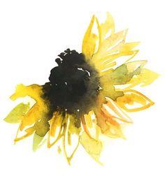 unique Watercolor tattoo - Sunflower_3...
