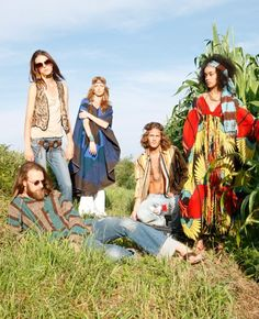 Hippie clothing styles in mid- & late 60s emerged from earlier bohemian & artisan movements, driven by necessity. Description from pinterest.com. I searched for this on bing.com/images