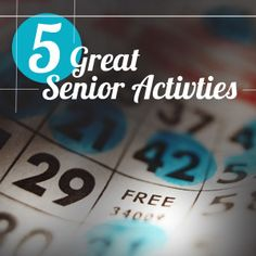 5 Great Senior Activities are really useful for the future and I thought that they were really cute!