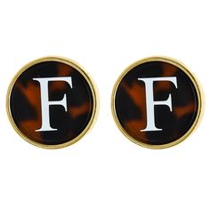 Monogrammed Tortoise Earrings | Fornash